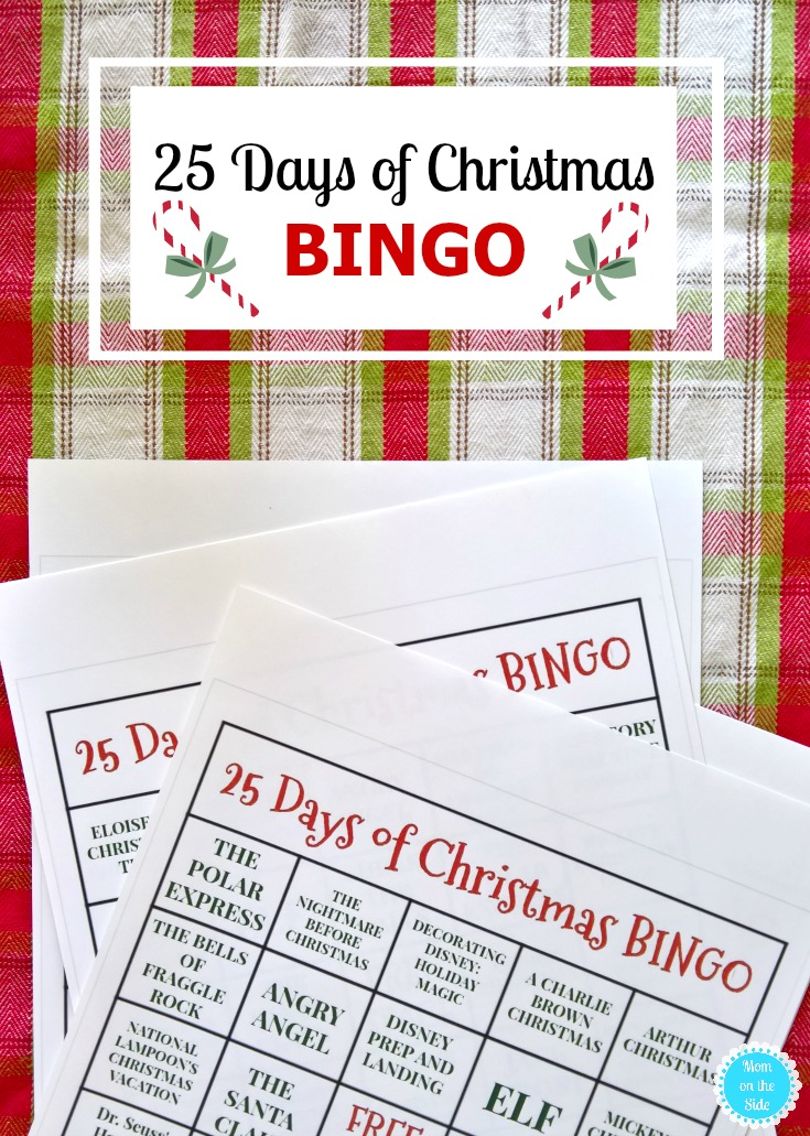 Printable 25 Days of Christmas BINGO to play with Freeform's 25 Days of Christmas 2017