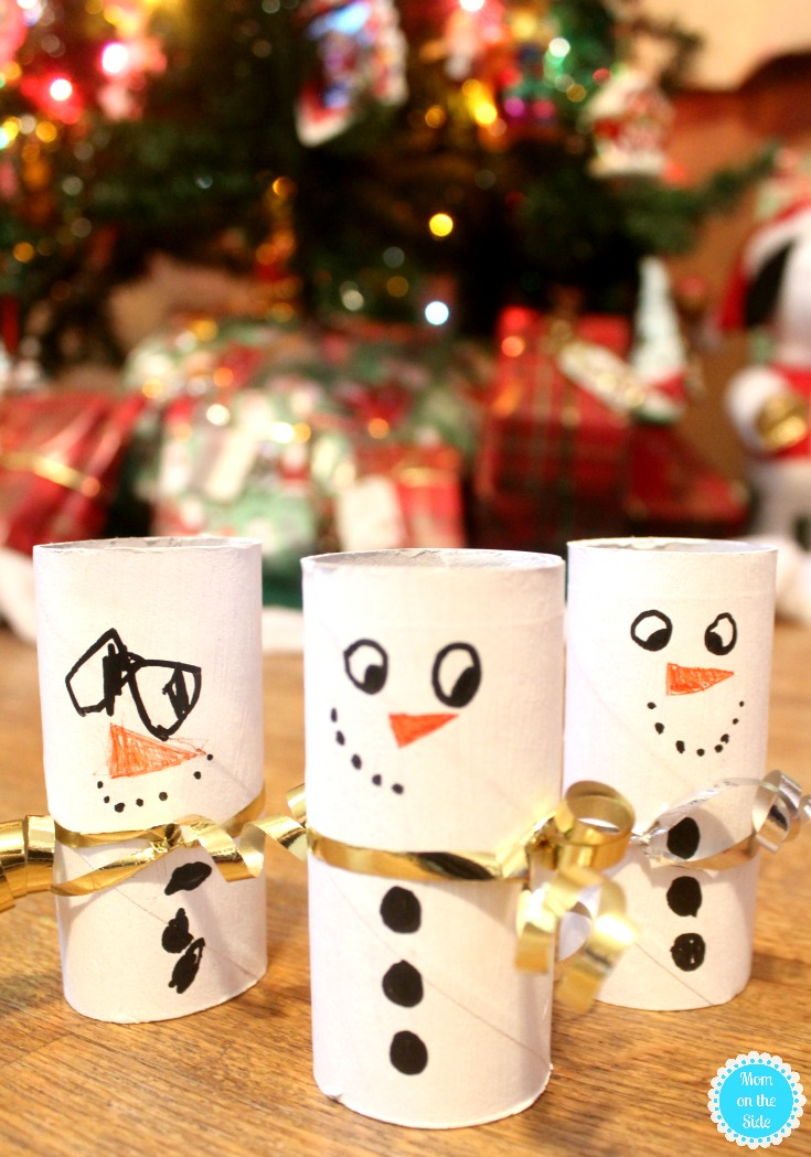 Christmas Craft for Kids: Toilet Paper Tube Snowmen