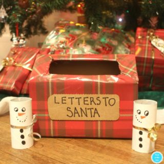 DIY Christmas Crafts for Kids: Letters to Santa Box and Toilet Paper Tube Snowmen
