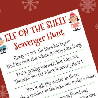 Elf on the Shelf Ideas - Printable Elf on the Shelf Scavenger Hunt