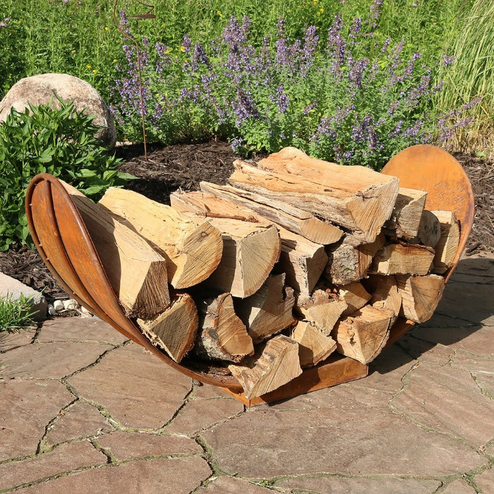 Best Gift Ideas for Garden Lovers: Log Rack