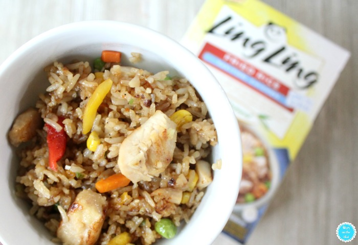 Delicious Ling Ling Yakitori Chicken Fried Rice and Cauliflower Cucumber Salad Recipe