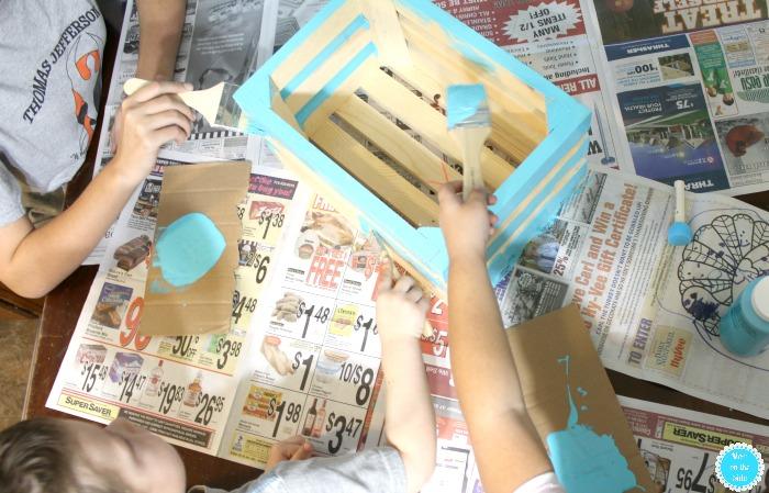 Making Bookshare Box Libraries for Family Volunteer Day in November
