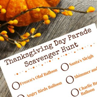 Thanksgiving Day Parade Scavenger Hunt
