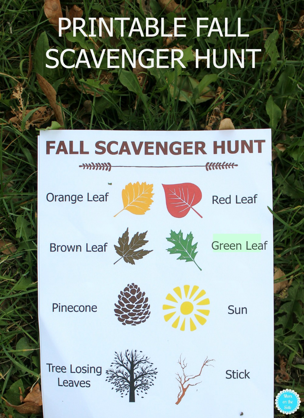 Fun and Free Printable Fall Scavenger Hunt for Kids to do!