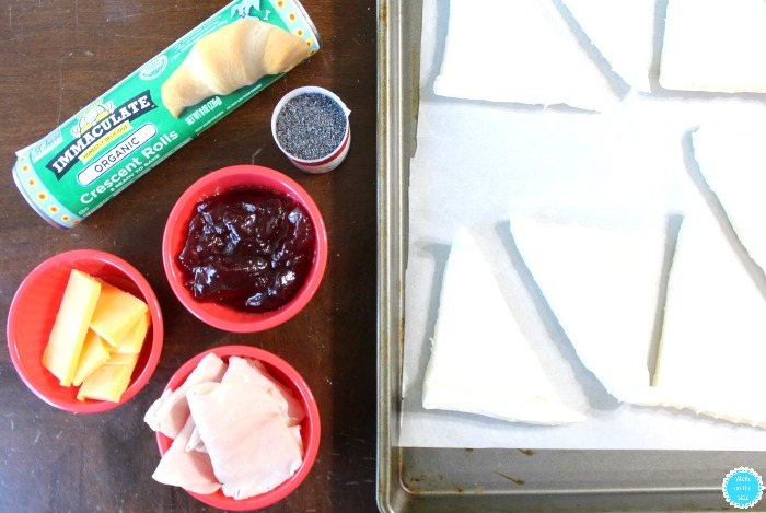 Ingredients for Cranberry Turkey Crescent Rolls with Immaculate Baking