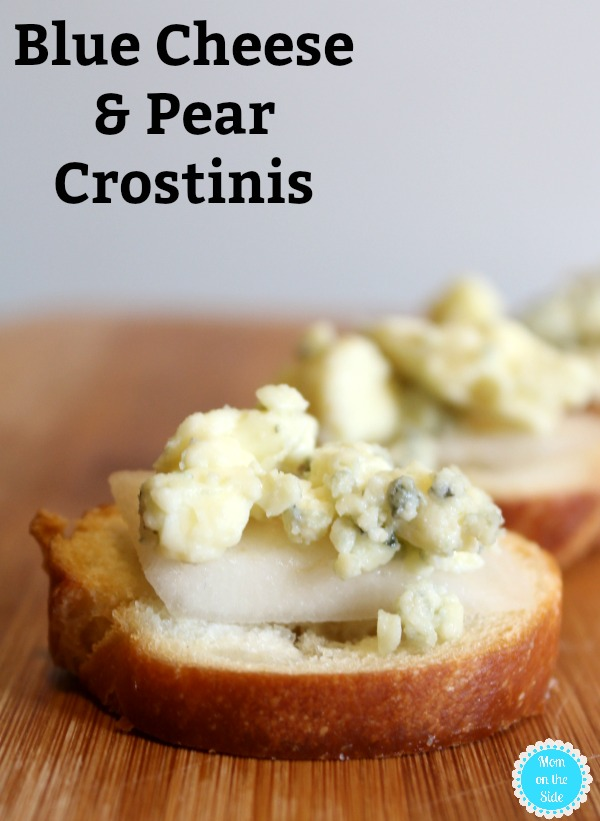 Easy appetzier recipe: Pear and Blue Cheese Crostinis with Salemville Cheese