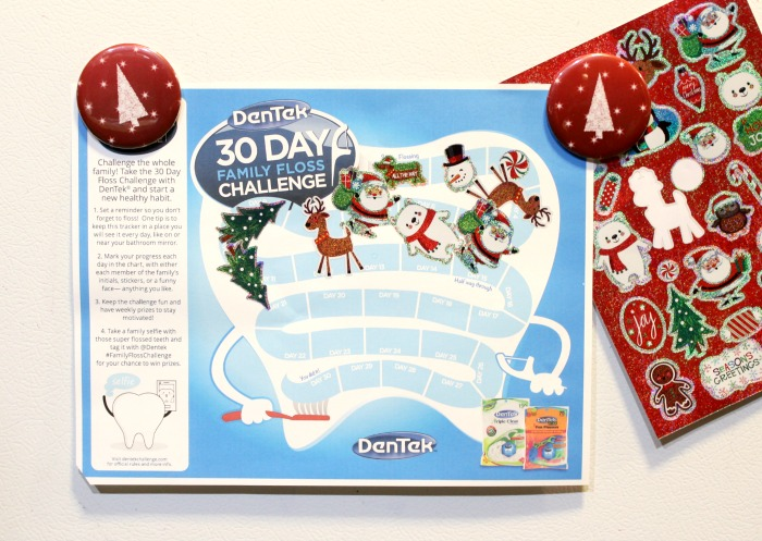 DenTek 30 Day Family Flossing Challenge Printable Calendar