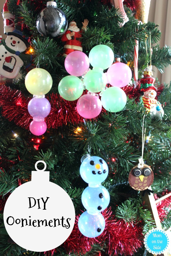 We love making DIY Christmas Ornaments for kids and these Ooniements made with Oonies are new favorites!