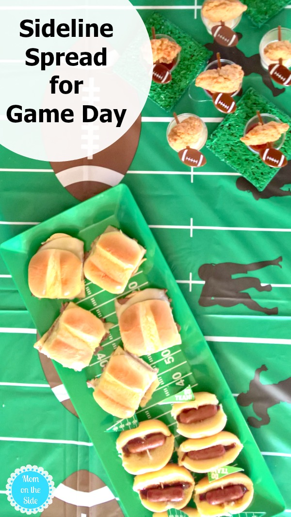 Easy football food ideas with my sideline spread for game day with Tyson at Walmart.