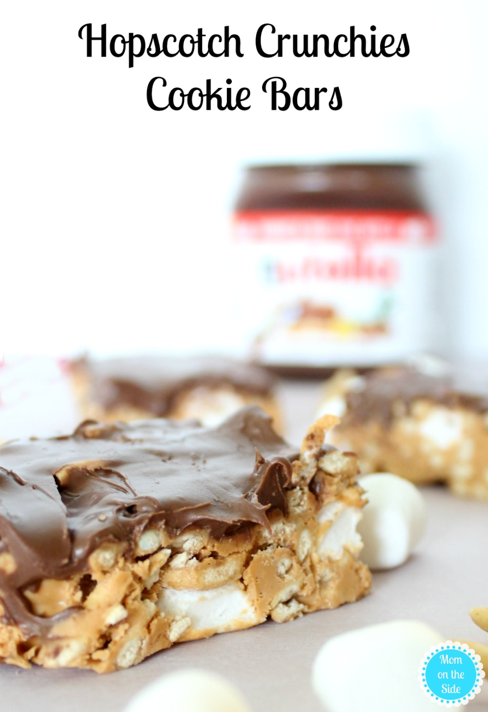 Deliciously easy Christmas cookies recipe for Hopscotch Crunchies with Nutella Hazelnut Spread