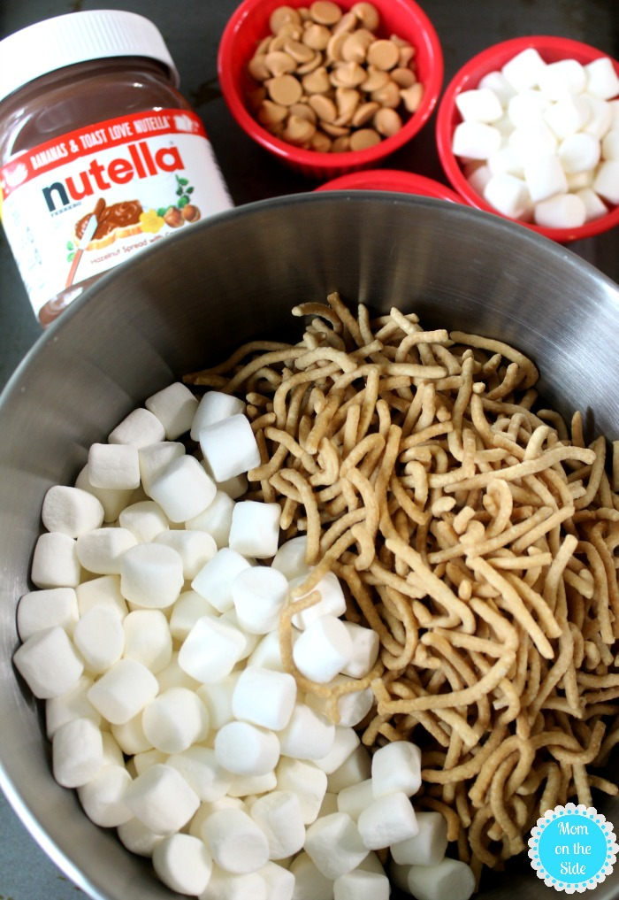 Ingredients for Hopscotch Crunchies with Nutella Hazelnut Spread