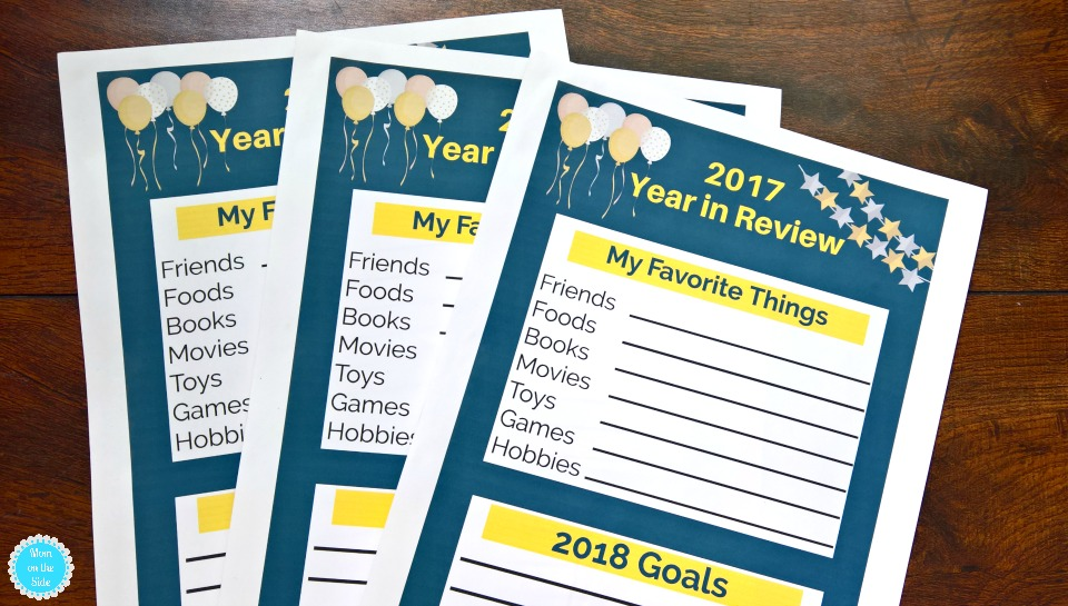Free Printable 2017 Year in Review for Kids for a New Year's Eve Family Party