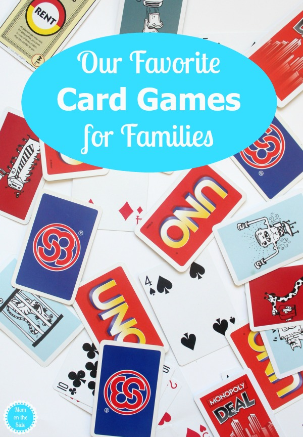 Here are our current favorite card games for families that we play with our kids!