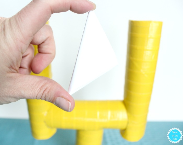 DIY Goal Posts made with Paper Towel Tubes