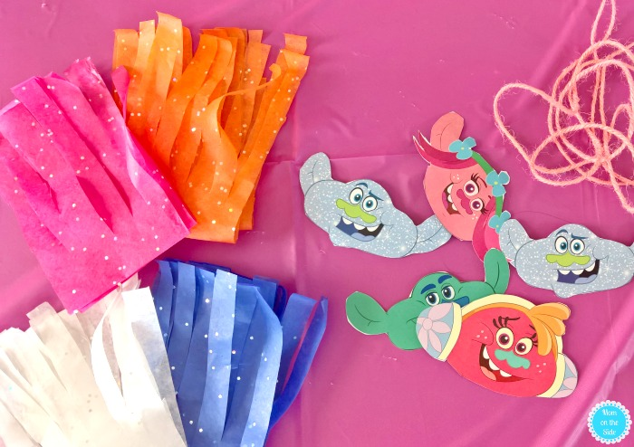 How to Make DIY Trolls Garland for a Trolls Party