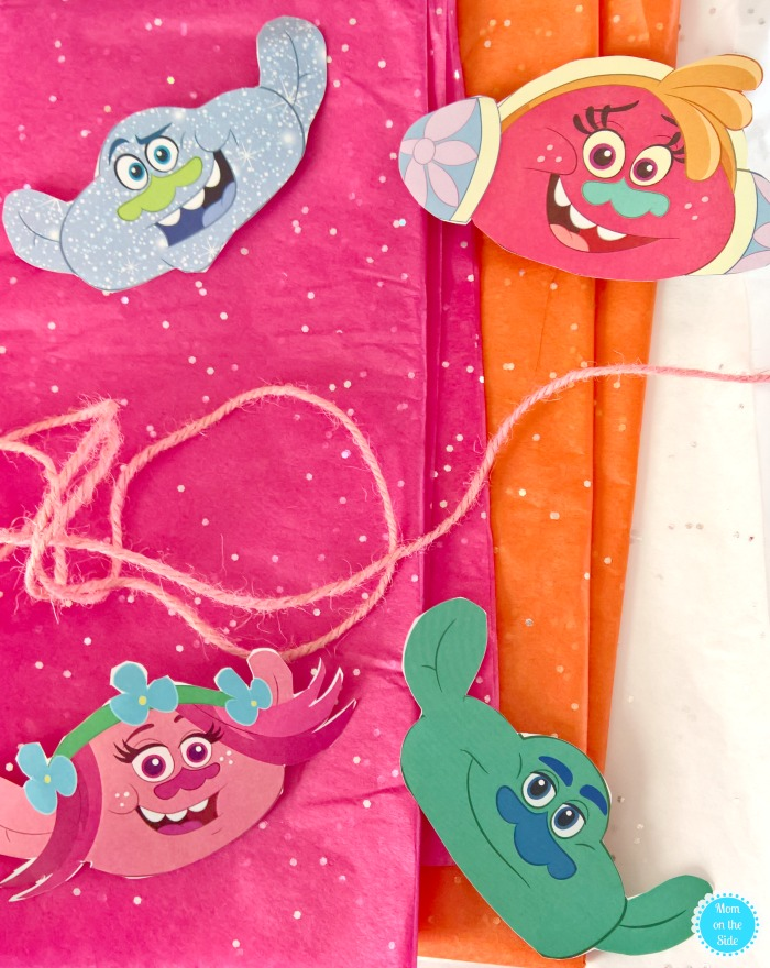 DIY Trolls Garland and other Trolls Party Ideas to celebrate Trolls The Beat Goes On on Netflix!