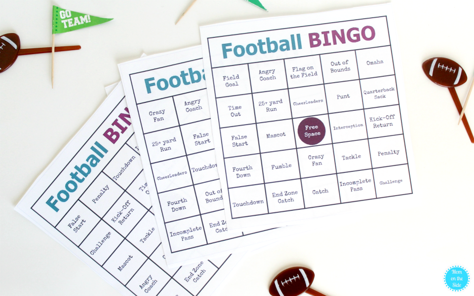 Mom's Family Football Game Day Party Must Haves + Printable Football BINGO