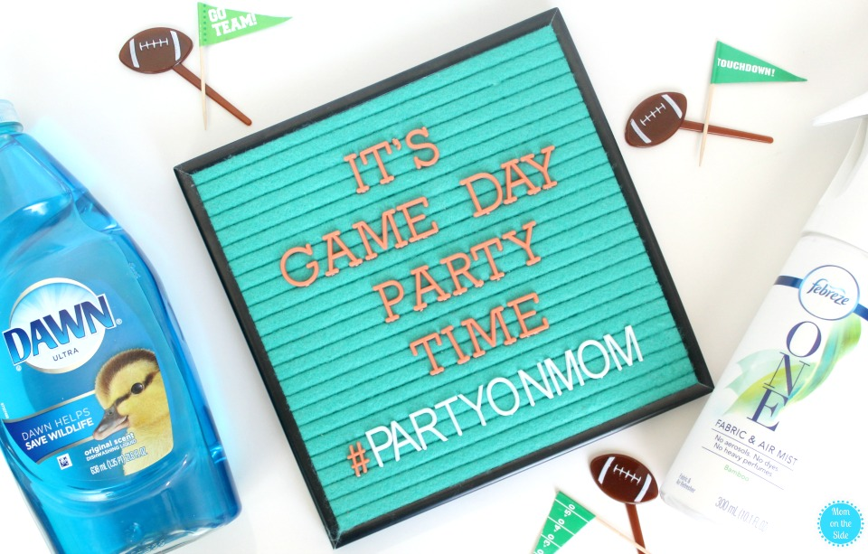 Mom's Family Football Game Day Party Must Haves for everyone to have fun!