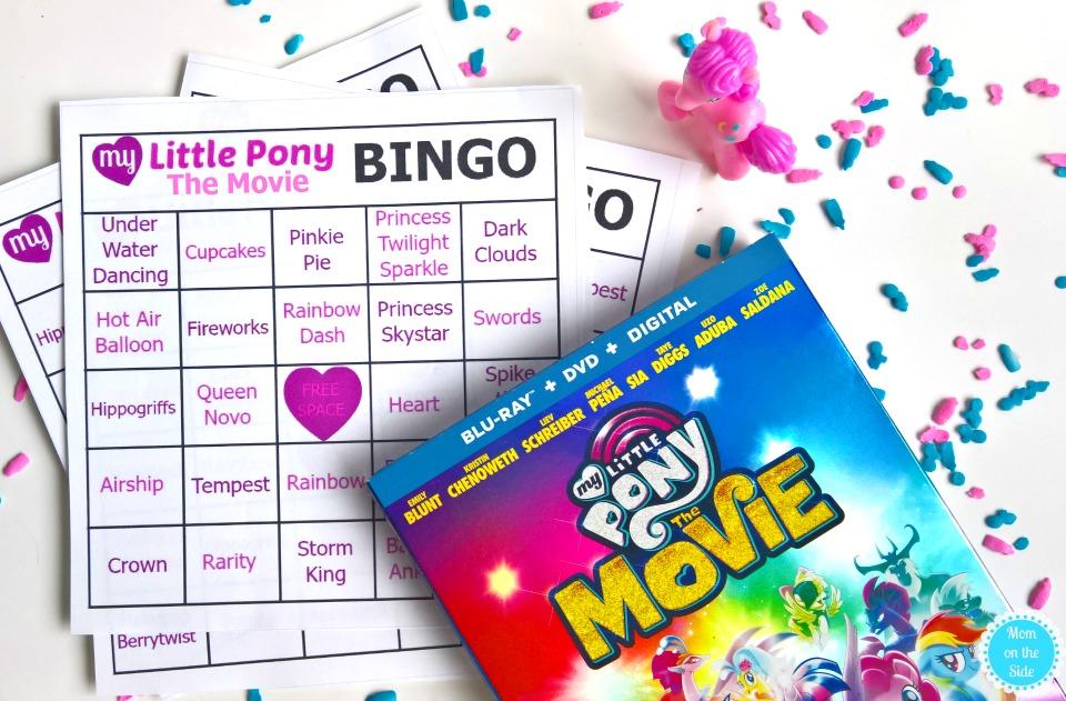 Printable My Little Pony: The Movie Bingo Cards