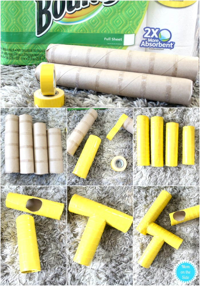 How to Make Paper Towel Tube Goal Posts