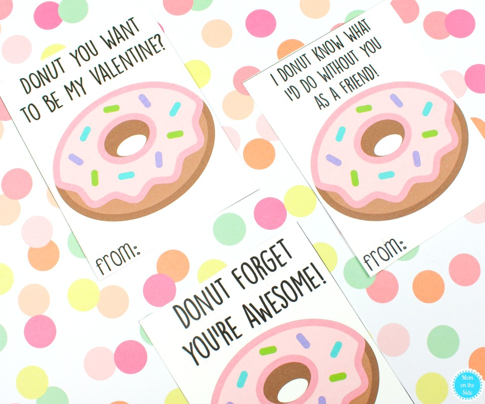 Free Printable Valentine Cards for Kids: Donut Valentine's