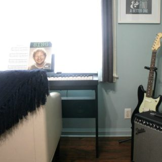 Creating a Space for Music at Home and Learing Guitar with Fender Play
