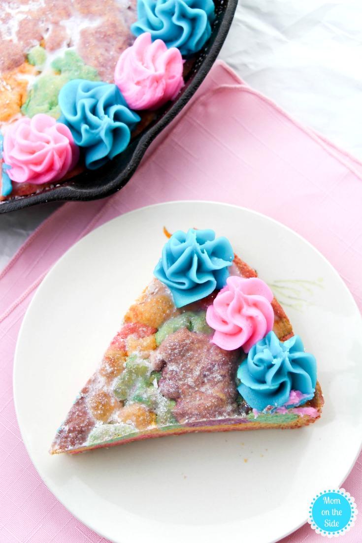 recipe for easter dessert: spring sugar skillet cookie
