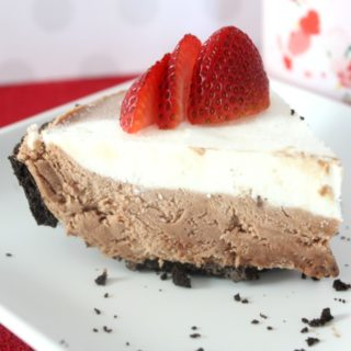 Chocolate Strawberry Freezer Pie with Baileys