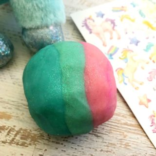 Homemade Unicorn Play Dough