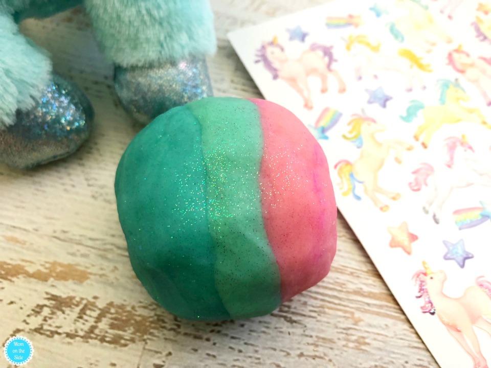 Homemade Playdough Recipe: DIY Unicorn Play Dough with Glitter