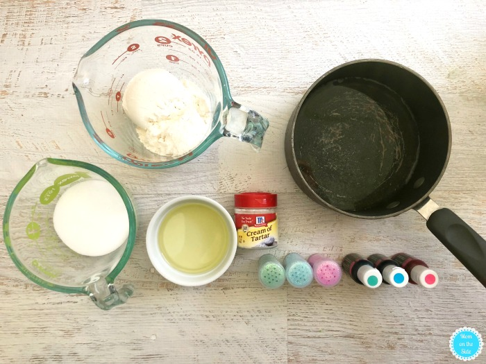Ingredients for Homemade Unicorn Play Dough | Homemade Playdough Recipe Ingredients