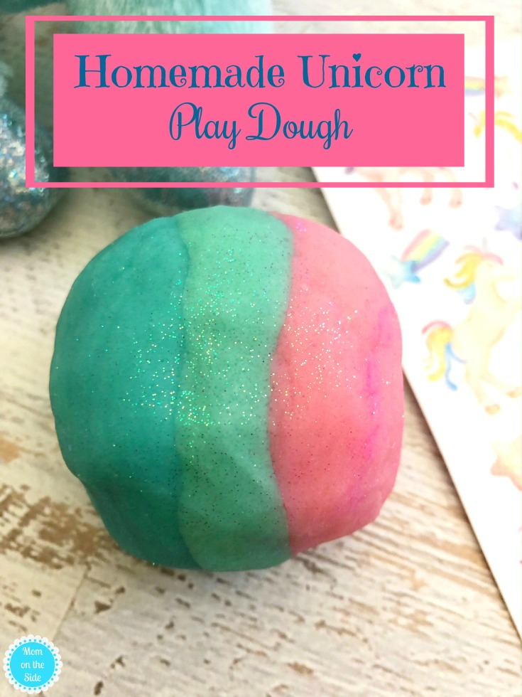 This Homemade Unicorn Play Dough is going on the list of best unicorn birthday party ideas! A homemade playdough recipe with things you typically have at home!
