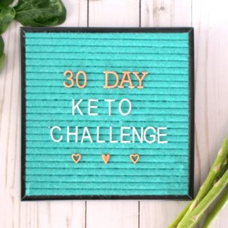 30 Day Keto Challenge + Printable