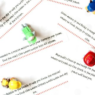 Printable Paw Patrol Scavenger Hunt Clues for a Paw Patrol Birthday Party