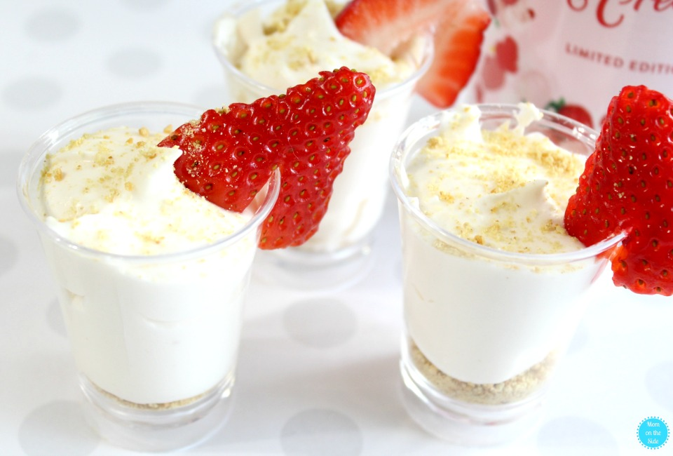 Easy Alcohol Dessert: Baileys Strawberries and Cream Mousse