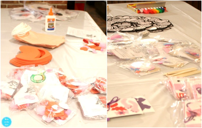 Craft Tables at the Valentine's Day Party for Kids