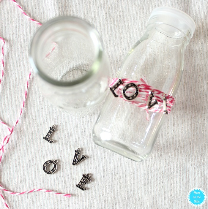 How to Make DIY Love Bottles for Valentine's Day Family Dinner Tablescape