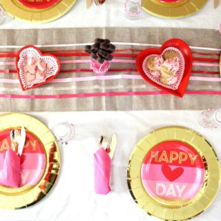 Fun and Easy Valentine's Day Family Dinner Tablescape