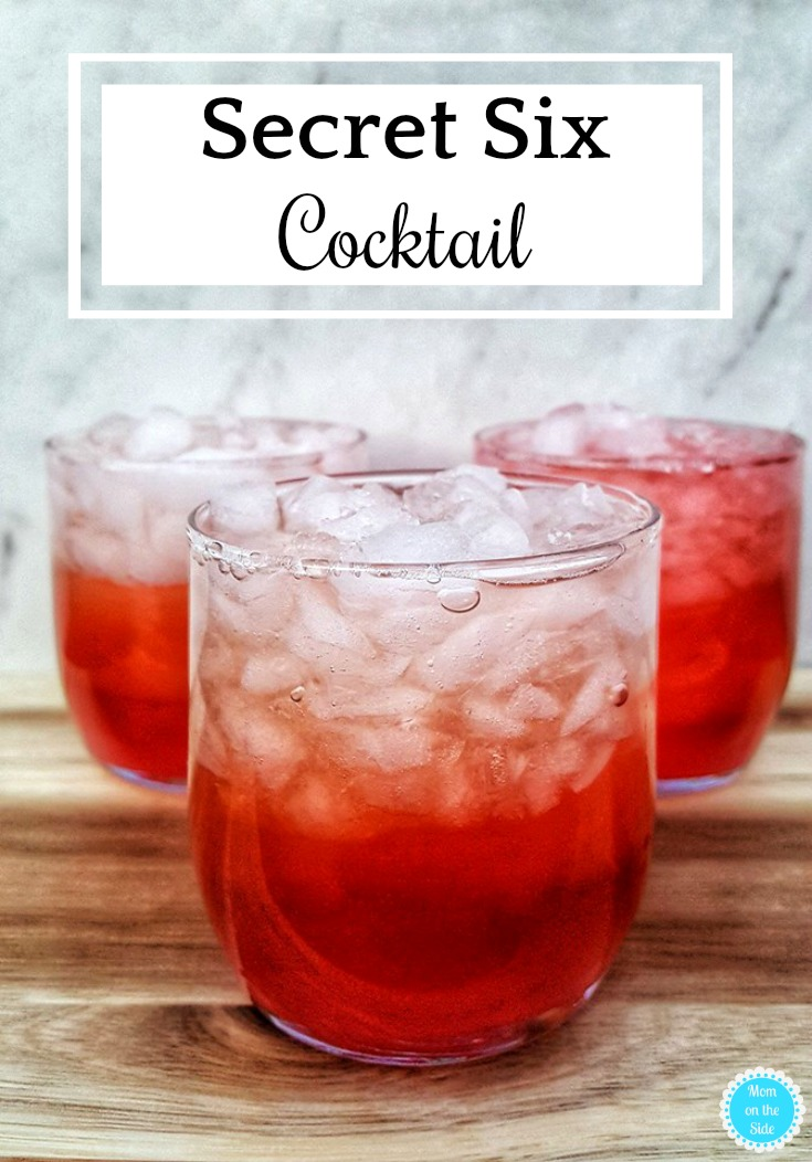 Cocktail Recipes: Peach Vodka is just one ingredient in this Secret Six Cocktail but it's a delicious one! I love a great drink I can mix up at home when I want to relax on the weekend or am hosting a party.