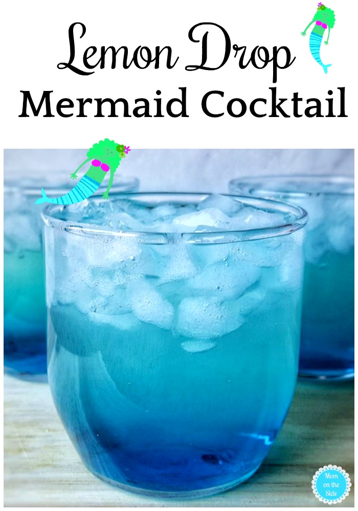 Mermaid Lemon Drop Cocktail