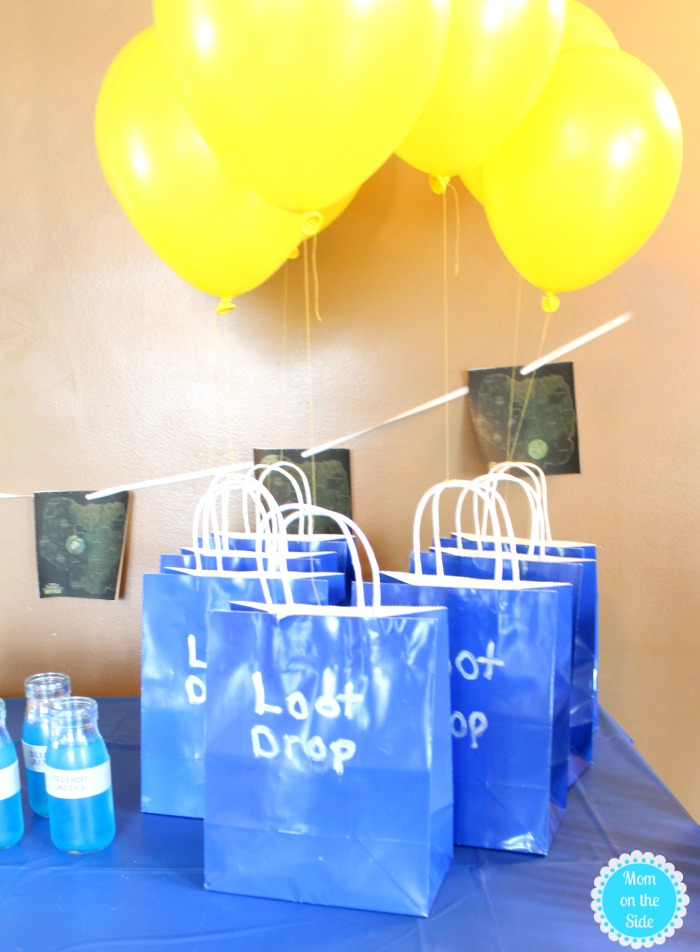 FORTNITE Party Ideas: Loot Drop Goody Bags