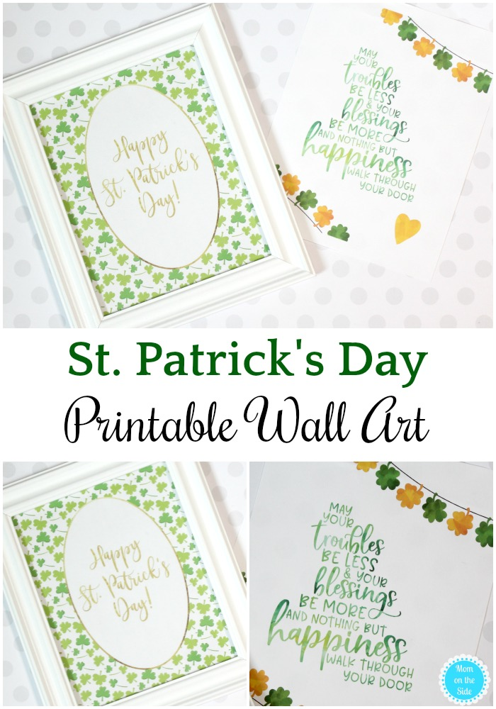 Two Free St. Patrick's Day Printable Wall Art