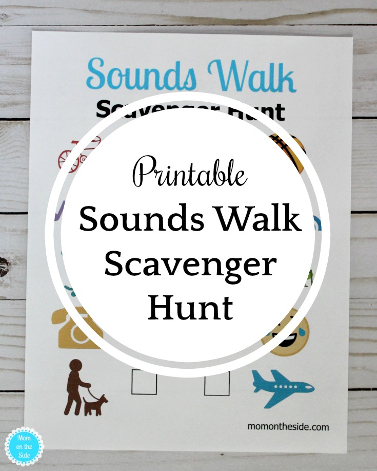 Free Printable Scavenger Hunt for Kids: Sounds Walk Scavenger Hunt that will have kids hunting for typical neighborhood sounds!