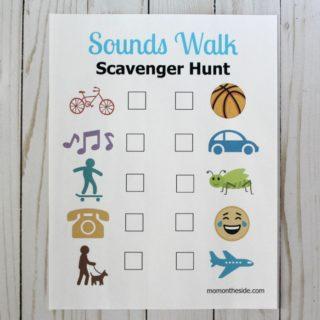 Printable Sounds Walk Scavenger Hunt