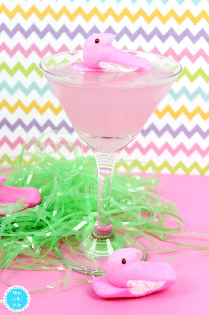 Easter Cocktail: Pink Lemonade Peeps Vodka