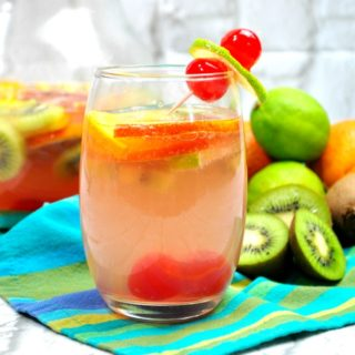 Tropical Sangria with White Wine