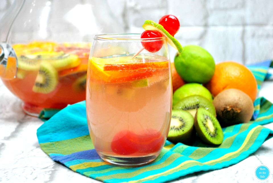 Tropical Sangria with White Wine and Pineapple Rum