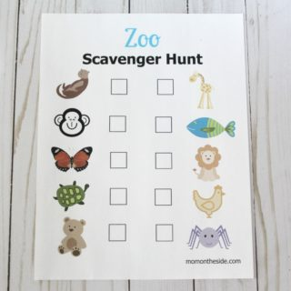Zoo Scavenger Hunt Printable for Kids
