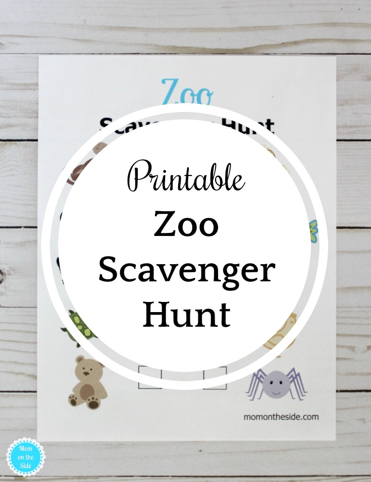 Free Printable Zoo Scavenger Hunt for Kids!